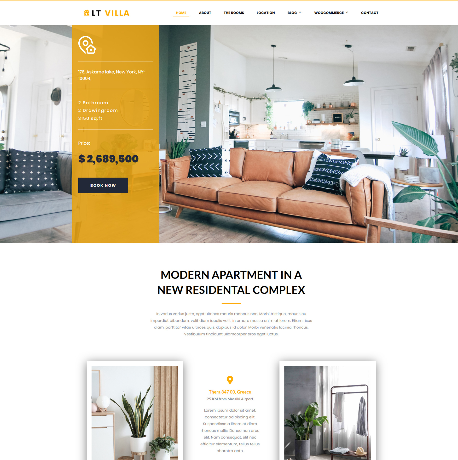 Modern Villa WordPress Theme