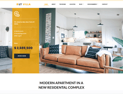 Modern Villa WordPress theme - LT Villa