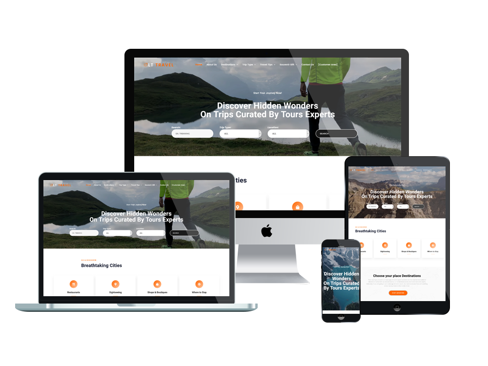 Travel Wordpress mobile theme