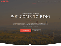 HTML5 Landing Page Template - Bino
