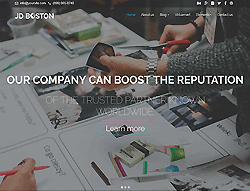Business Joomla Template - JD Boston