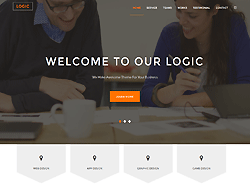 Top Website Template - Logic