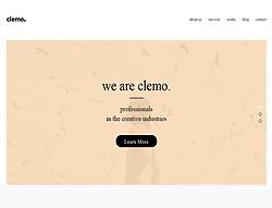 Multipurpose Portfolio Page Template - Clemo