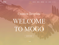 One Page HTML Portfolio Template - MoGo