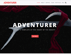 One Page Creative HTML Template - Adventurer
