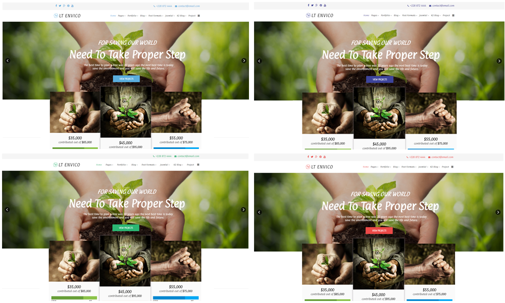 Nature Joomla template Color Styles