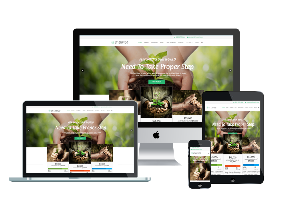 Nature Joomla template Layout