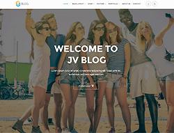 Responsive Wordpress Theme - JV Blog