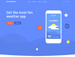 Landing Page Bootstrap Template - Weather Apps