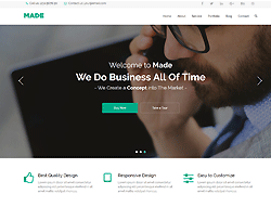 Portfolio Bootstrap Template - Made Agency