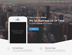 Landing Page Bootstrap Template - Made Apps