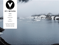 Portfolio WordPress Template - Vertex