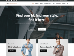 Fashion Joomla Template - AT Fashion Shop