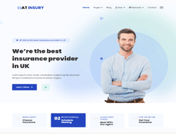 Insurance Joomla Template - AT Insury
