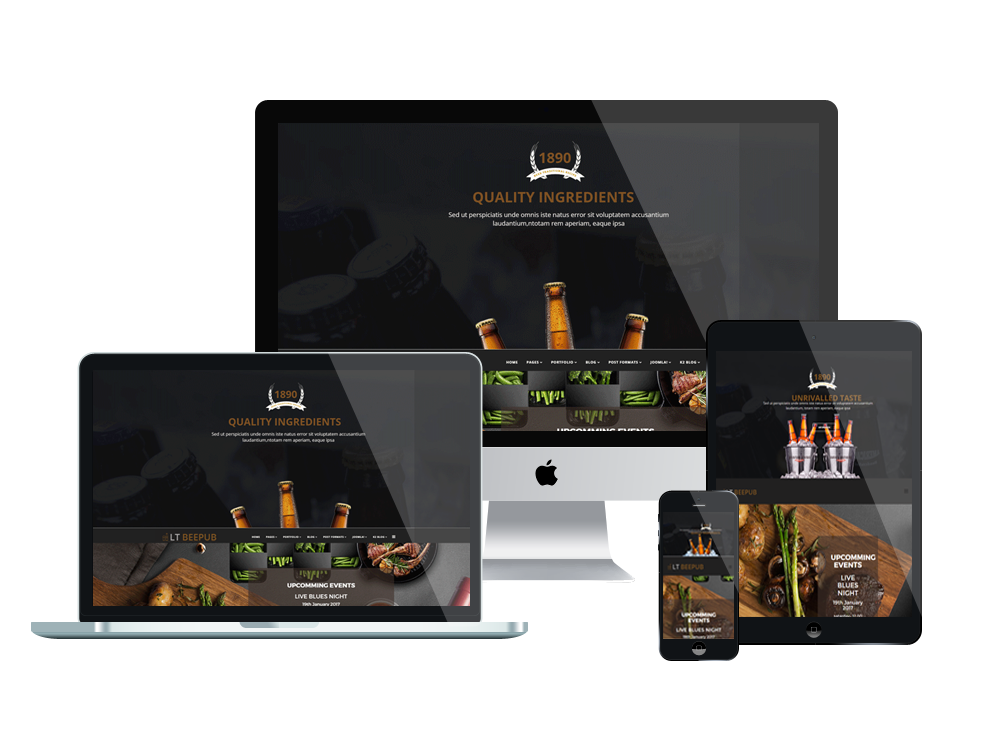 Bistro Joomla template Layout