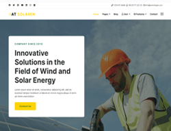 Energy Joomla template - AT Solaren