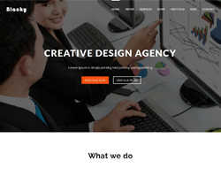 Onepage HTML Template - Blacky