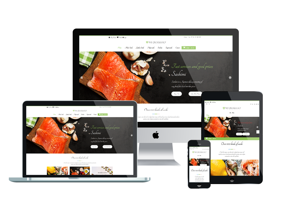 Sushi woocommerce wordpress mobile theme