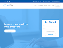 Top Website Template - Landgig