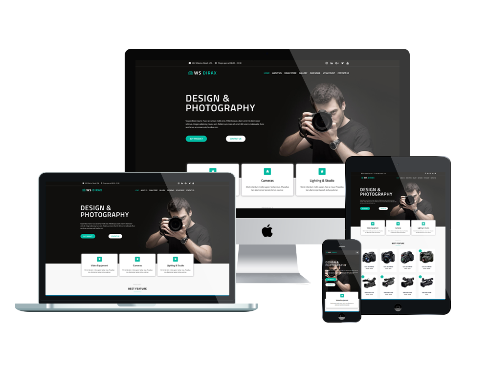 Dirax woocommerce wordpress mobile theme