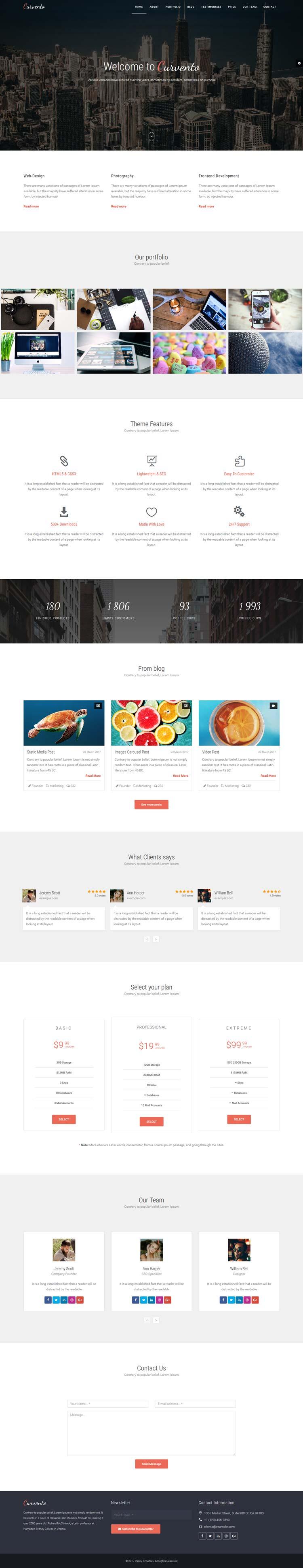 Multipurpose HTML template