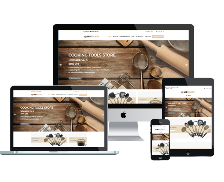 Kigato woocommerce wordpress mobile theme