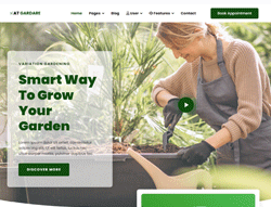 Garden Joomla! Template - AT Gardare