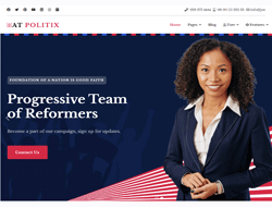 Politics Joomla Template - AT Politix