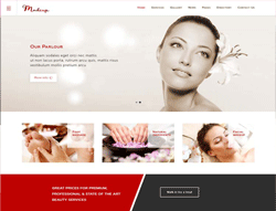 Makeup Joomla Template - PT Makeup Artist