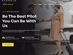 Airline Joomla! template - AT Airus