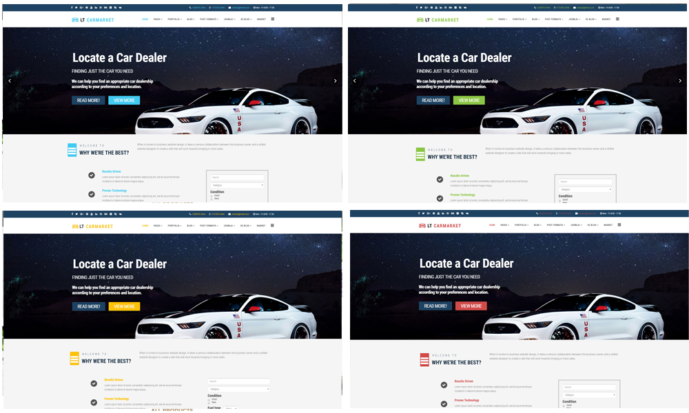 Carmarket Joomla template Color Styles