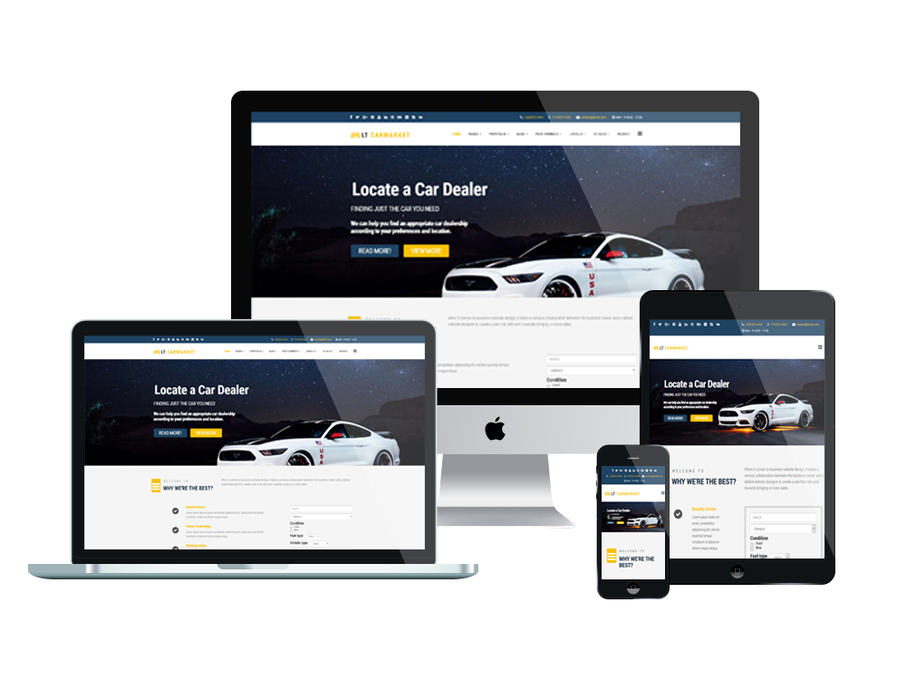 Carmarket Joomla template Layout