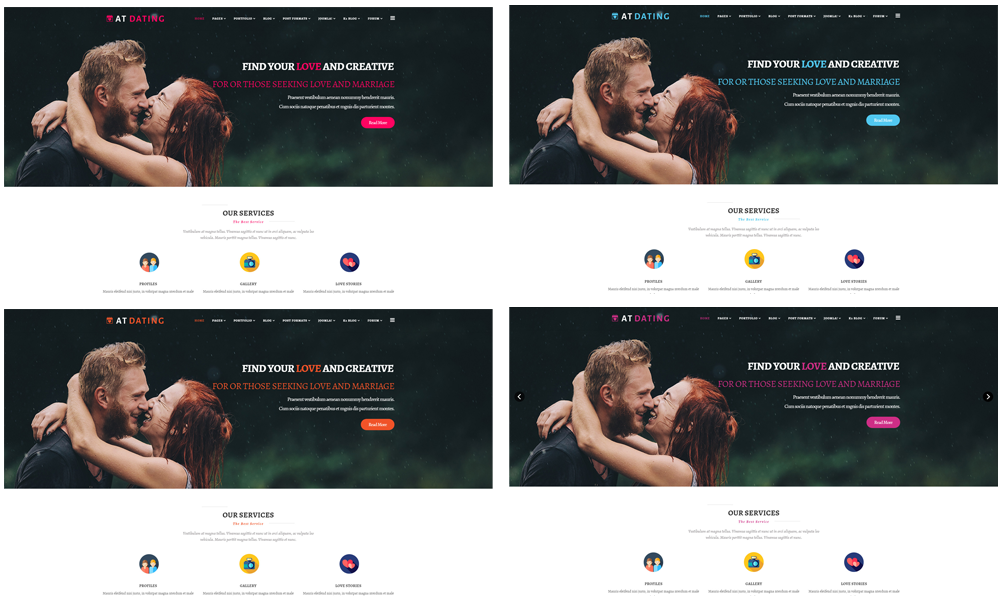 AT Dating Joomla template Color Styles