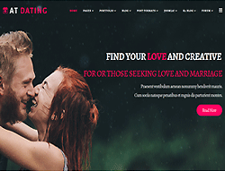 Dating Joomla template - AT Dating