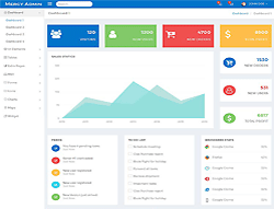 Admin Dashboard HTML Template - Mercy