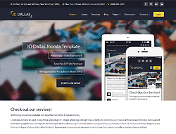 Business Joomla! Template - JD Dallas