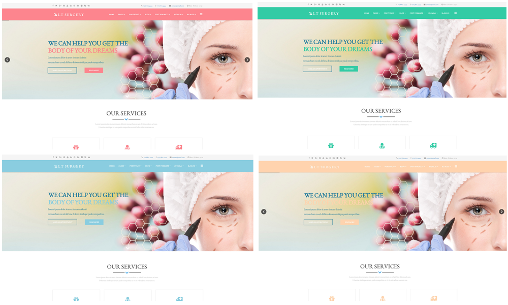 Surgery Joomla template Color Styles