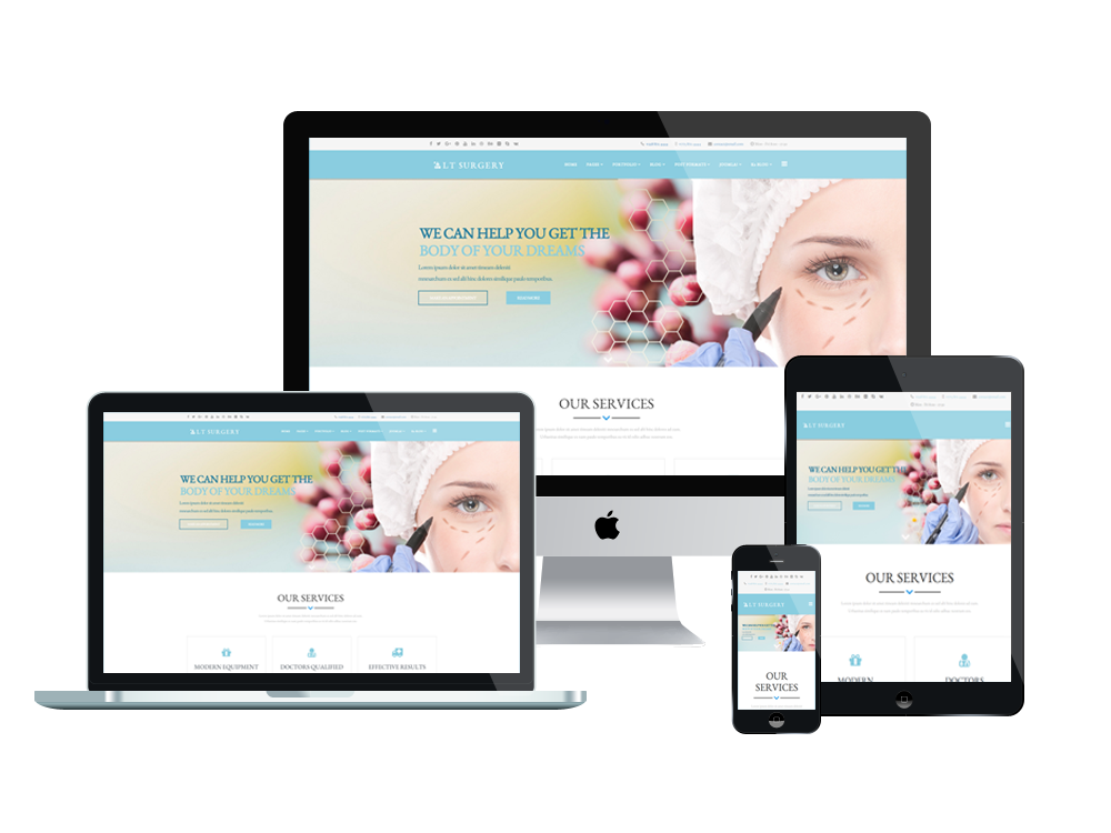 Surgery Joomla template Layout
