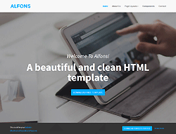 Top Website Template - Alfons