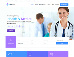 Medical Joomla! Template - JD Medical