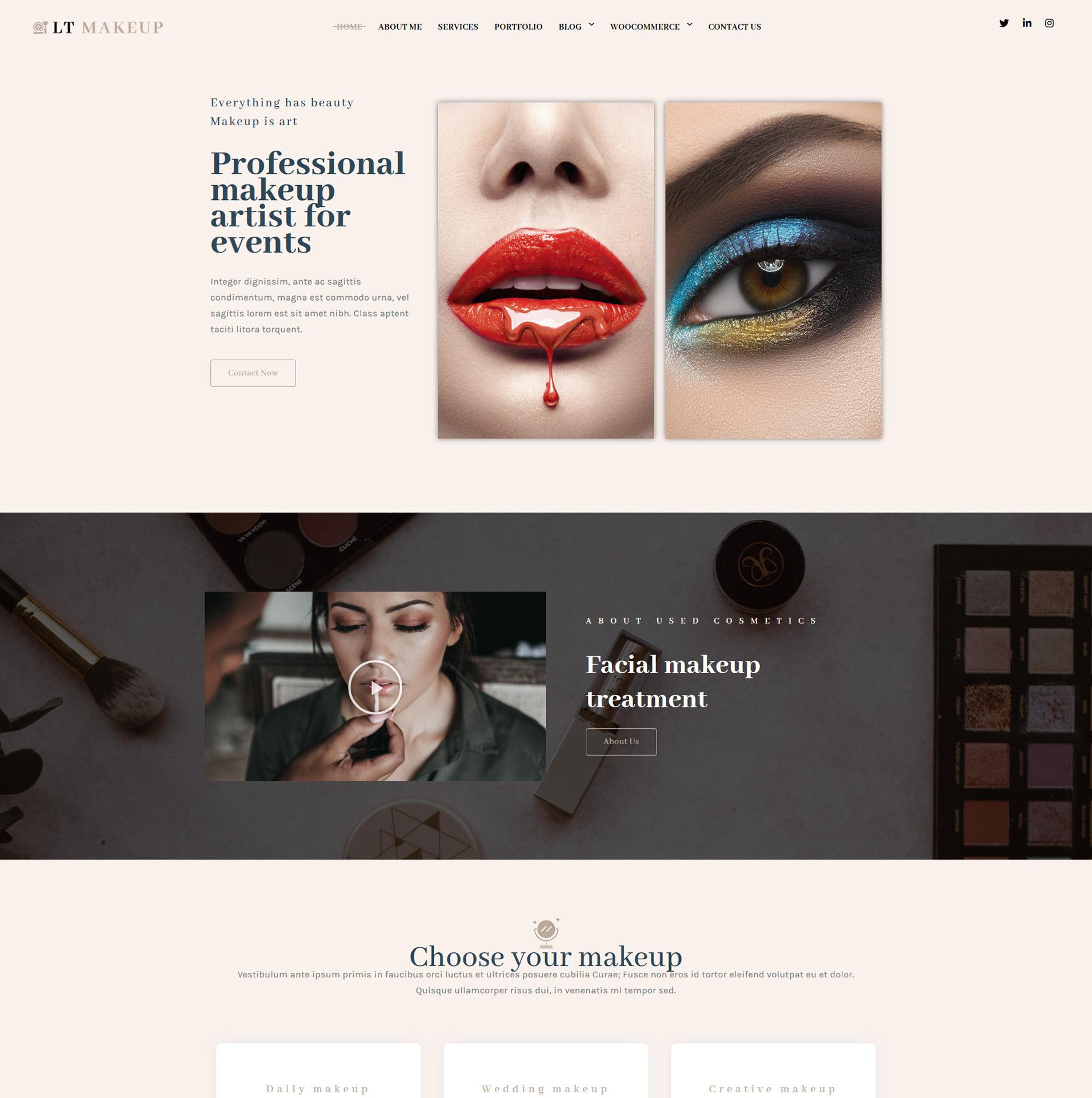 Cosmetics Store WordPress Theme