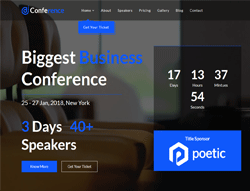 Joomla Event Template - JD Conference