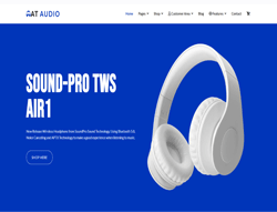 eCommerce Joomla template - AT Audio