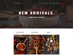 Organic Food WordPress Theme - LT Taspice