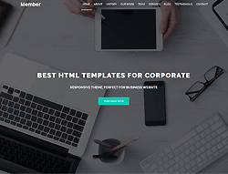 Multipurpose HTML Template - Member