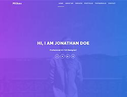 Personal Portfolio HTML Template - Milkos