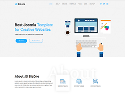 One Page Joomla Template - JD Biz One