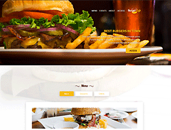 Top Website Template - Burger Cafe