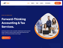 Accounting Joomla Template - AT Tax