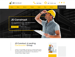 Construction Joomla! Template - JD Construct